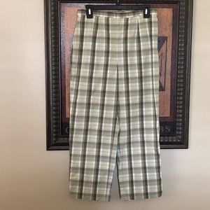 VTG Eddie Bauer Light Plaid Capri Pants/Chinos
